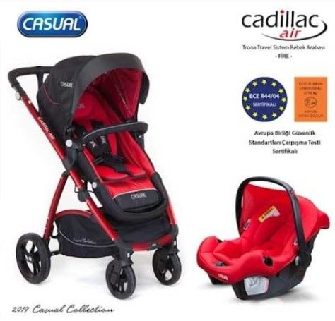 Casual - Cadillac Air Trona Travel Sistem Bebek Arabası - Fire