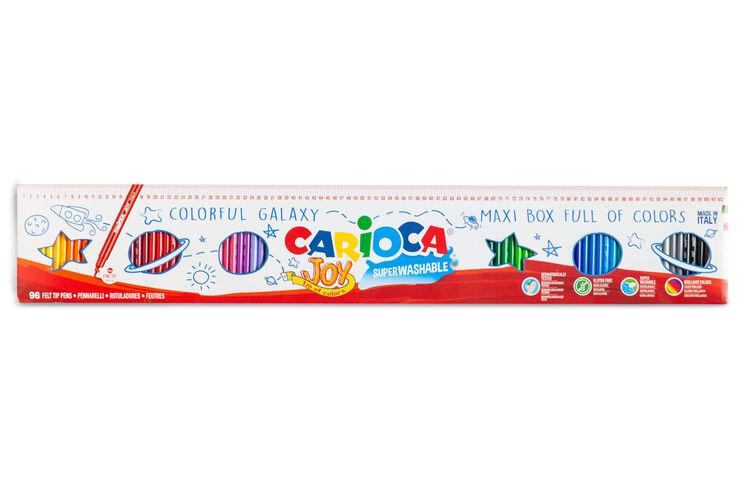 Carioca - Carioca Joy Süper Yıkanabilir Keçeli Boya Kalemi 96'lı (1 Metre)