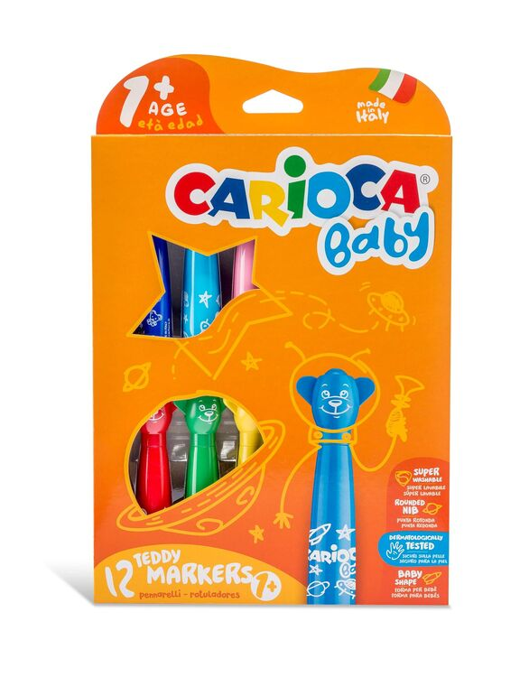 Carioca - Carioca Jumbo Bebek Süper Yıkanabilir Keçeli Boya Kalemi 12'li