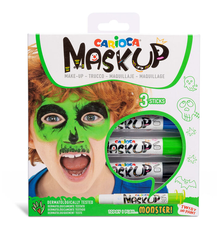 Carioca - Carioca Mask Up Yüz Boyası – Canavarlar (3 Renk)