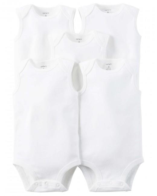 Carter′s - Carter's Bebek 5'li Kolsuz Beyaz Body