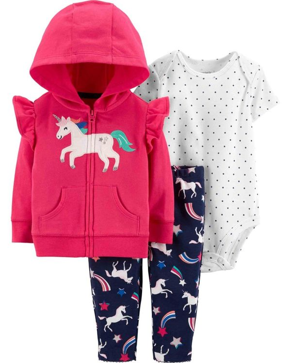 Carter′s - Carter's Kız Bebek Unicorn'lu 3'lü Hırka Seti