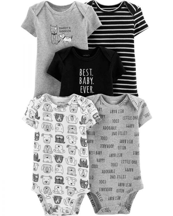 Carter′s - Carter's Erkek Bebek 5'li Sevimli Hayvan Desenli Body