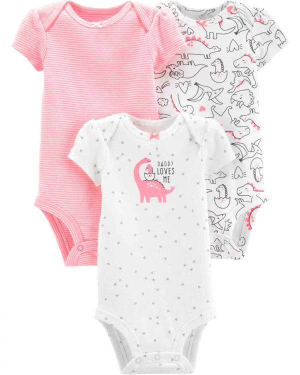 Carter′s - Carter's Layette Kız Bebek 3'lü Body