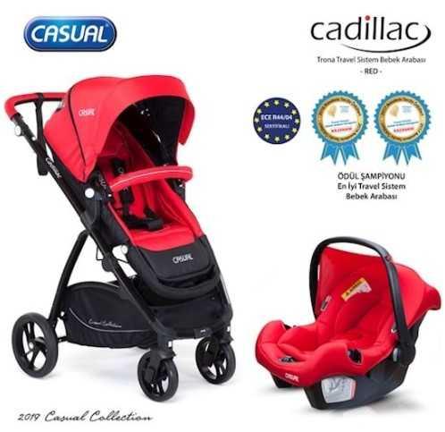 Casual Cadillac Trona Travel Sistem Bebek Arabası Kırmızı