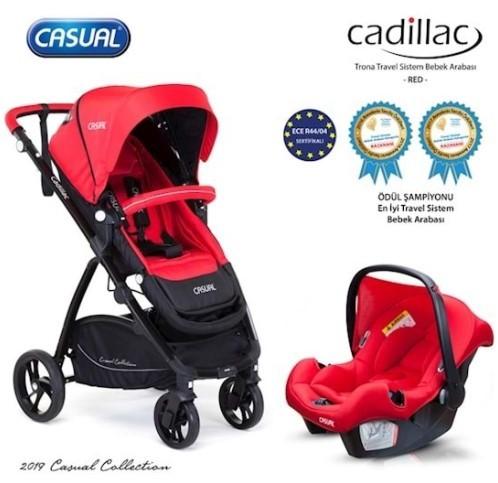 Casual - Casual Cadillac Trona Travel Sistem Bebek Arabası Kırmızı