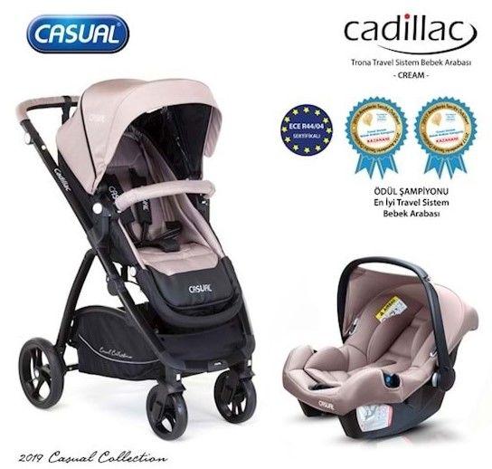 Casual - Casual Cadillac Trona Travel Sistem Bebek Arabası Krem
