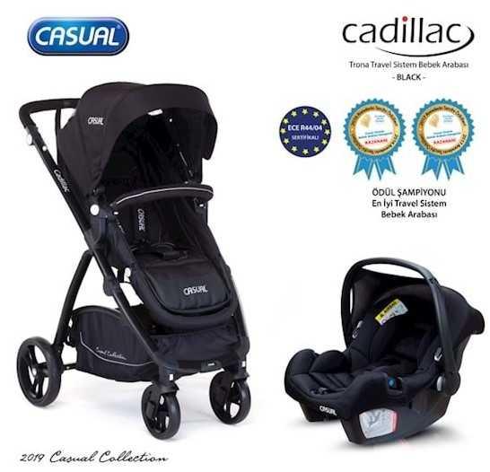 Casual Cadillac Trona Travel Sistem Bebek Arabası Siyah