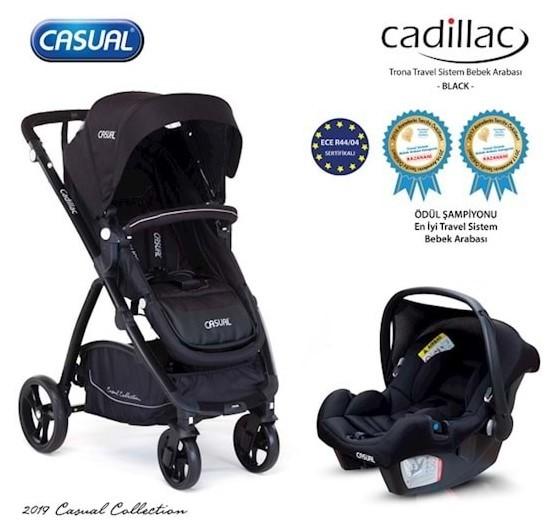 Casual - Casual Cadillac Trona Travel Sistem Bebek Arabası Siyah