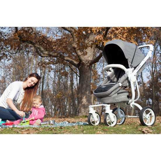 Casual Quatro Trona Travel Sistem Bebek Arabası - Krem
