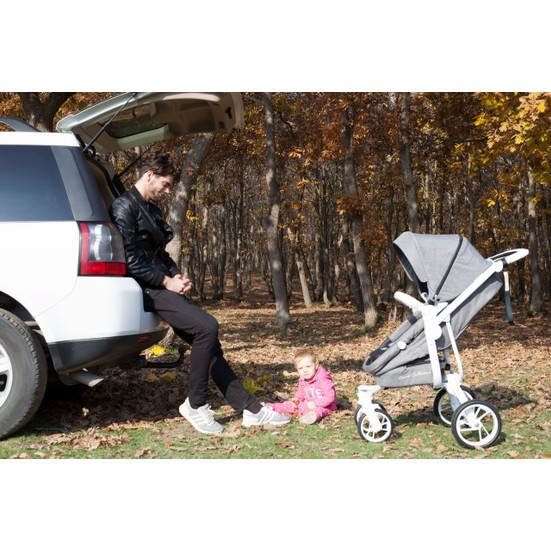 Casual Quatro Trona Travel Sistem Bebek Arabası - Krem - Thumbnail