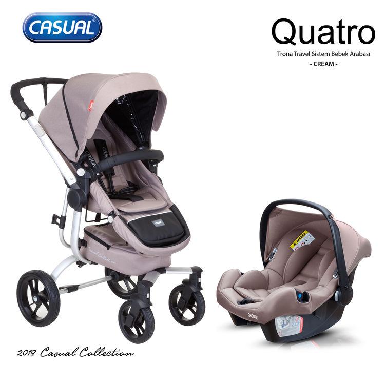Casual - Casual Quatro Trona Travel Sistem Bebek Arabası - Krem