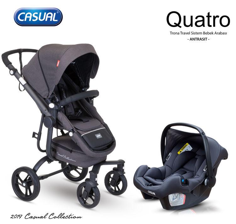 Casual - Casual Quatro Trona Travel Sistem Bebek Arabası - Antrasit
