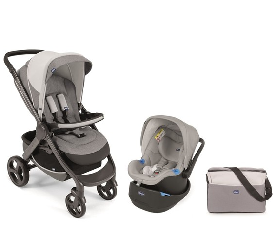 Chicco - Chicco Duo Style Go Up Travel Sistem Bebek Arabası / Gri