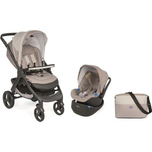 Chicco - Chicco Duo Style Go Up Travel Sistem Bebek Arabası / Krem