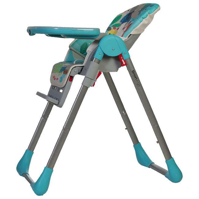 Brion Vega Çok Fonksiyonlu Tekerlekli Mama Sandalyesi Turkuaz - Thumbnail