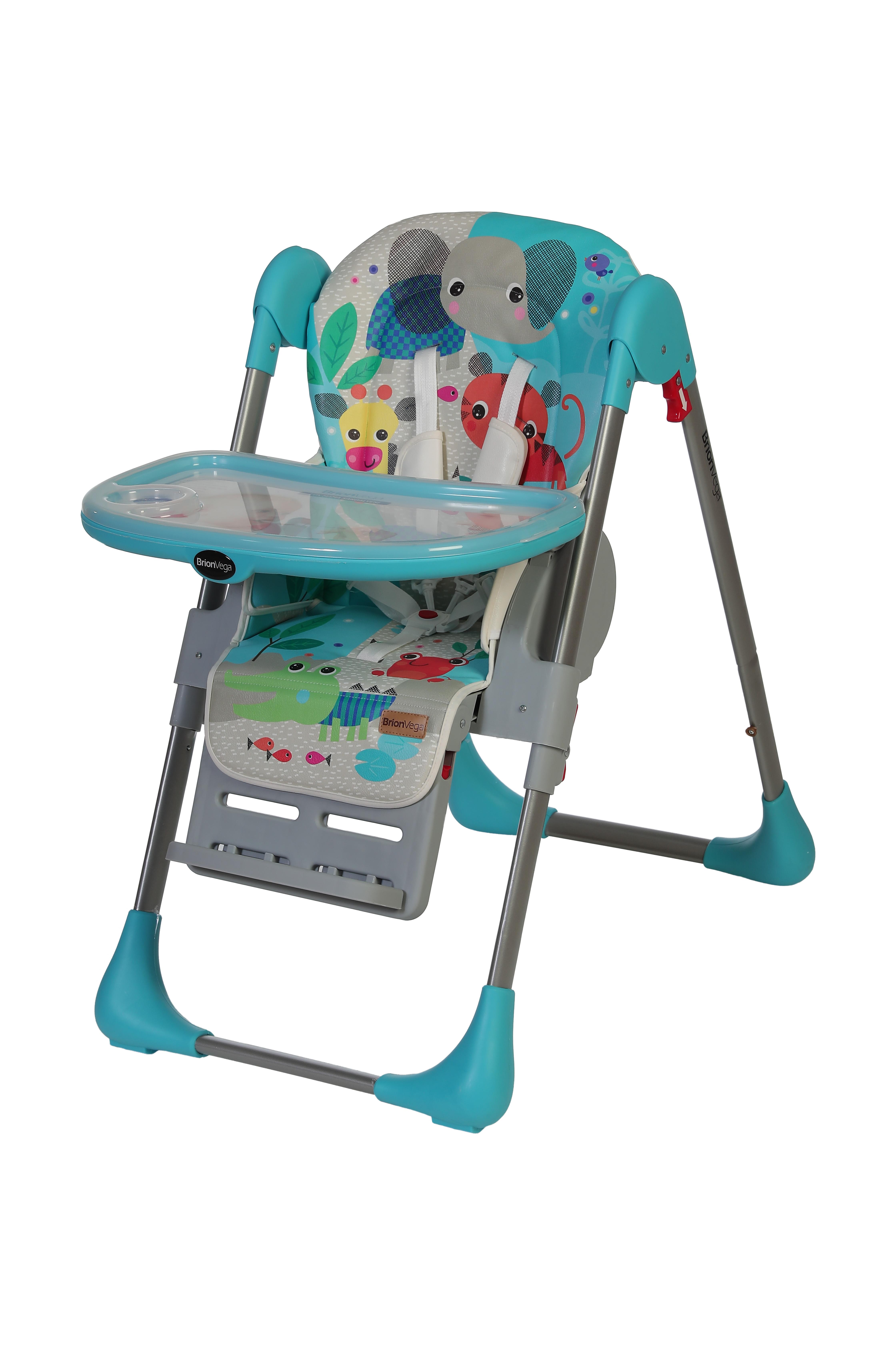 Brion Vega Çok Fonksiyonlu Tekerlekli Mama Sandalyesi Turkuaz