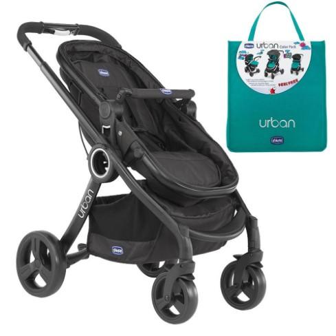 Chicco - Chicco Urban Plus Çift Yönlü Bebek Arabası+Green Wave Renk Paketi
