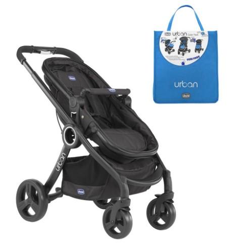 Chicco - Chicco Urban Plus Çift Yönlü Bebek Arabası+Power Blue Renk Paketi