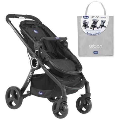 Chicco - Chicco Urban Plus Çift Yönlü Bebek Arabası+Sandshell Renk Paketi