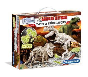 Clementoni - Clementoni Arkeolog Oluyorum - T-Rex ve Triceratops