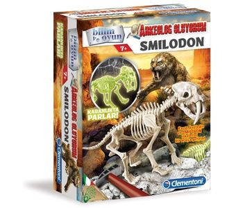 Clementoni - Clementoni Arkeolojik Kazı Seti - Similodon (Floresan) (7YAŞ+)
