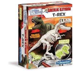 Clementoni - Clementoni Arkeolojik Kazı Seti - T-Rex (Floresan) (7YAŞ+)