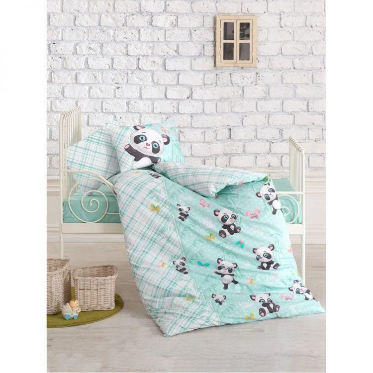 Cottonbox - Cotton Box Panda Bebek Nevresim Takımı Mint
