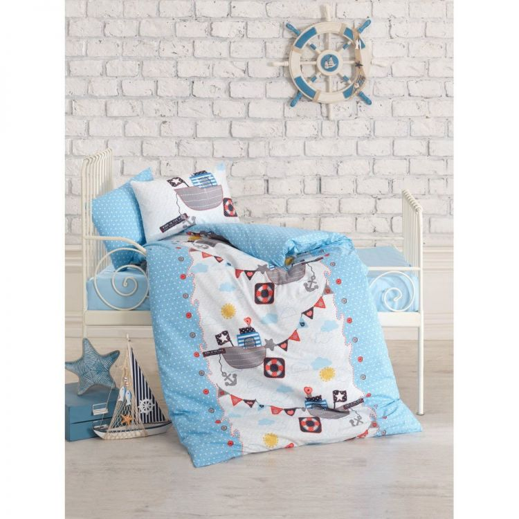 Cottonbox - Cotton Box Gemici Bebek Nevresim Takımı Mavi