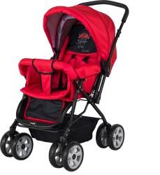 CrystalBaby - Crystal Baby 212 Mega Bebek Arabası - Kırmızı