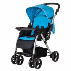 CrystalBaby - Crystal Baby 298 Maria Çift Yönlü Bebek Arabası Mavi