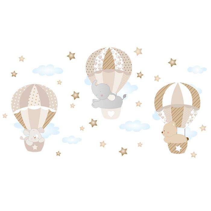 En Ucuz Dekor Loft Balonla Yolculuk çocuk Odası Duvar Sticker Cs 630