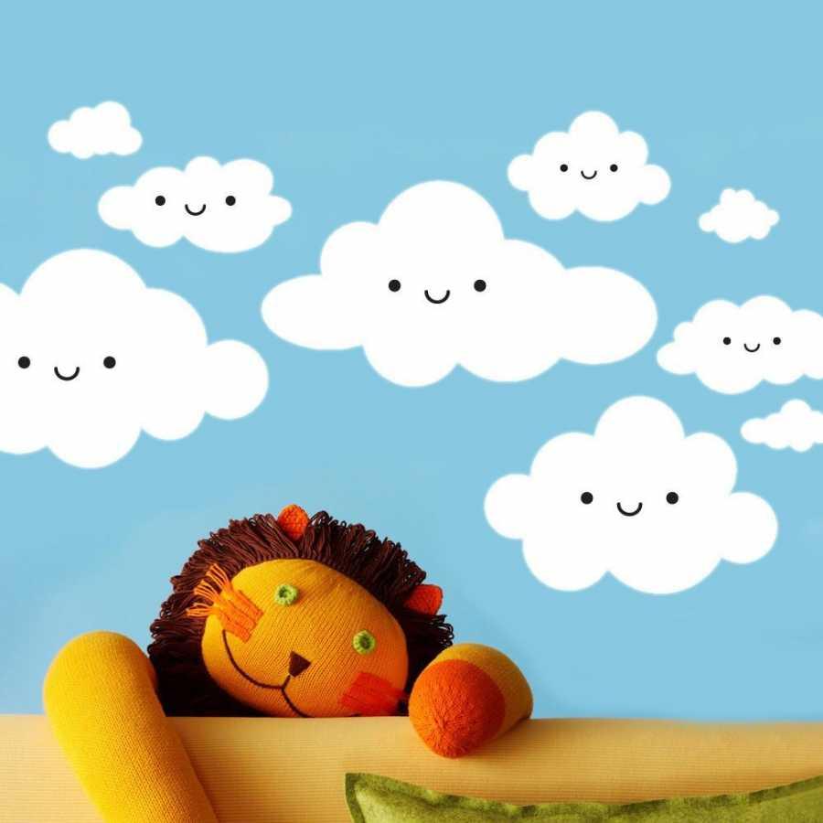 Dekor Loft Mutlu Bulutlar XL Çocuk Odası Duvar Sticker CS-618