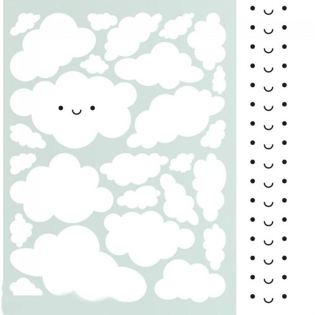 Dekor Loft Mutlu Bulutlar XL Çocuk Odası Duvar Sticker CS-618 - Thumbnail