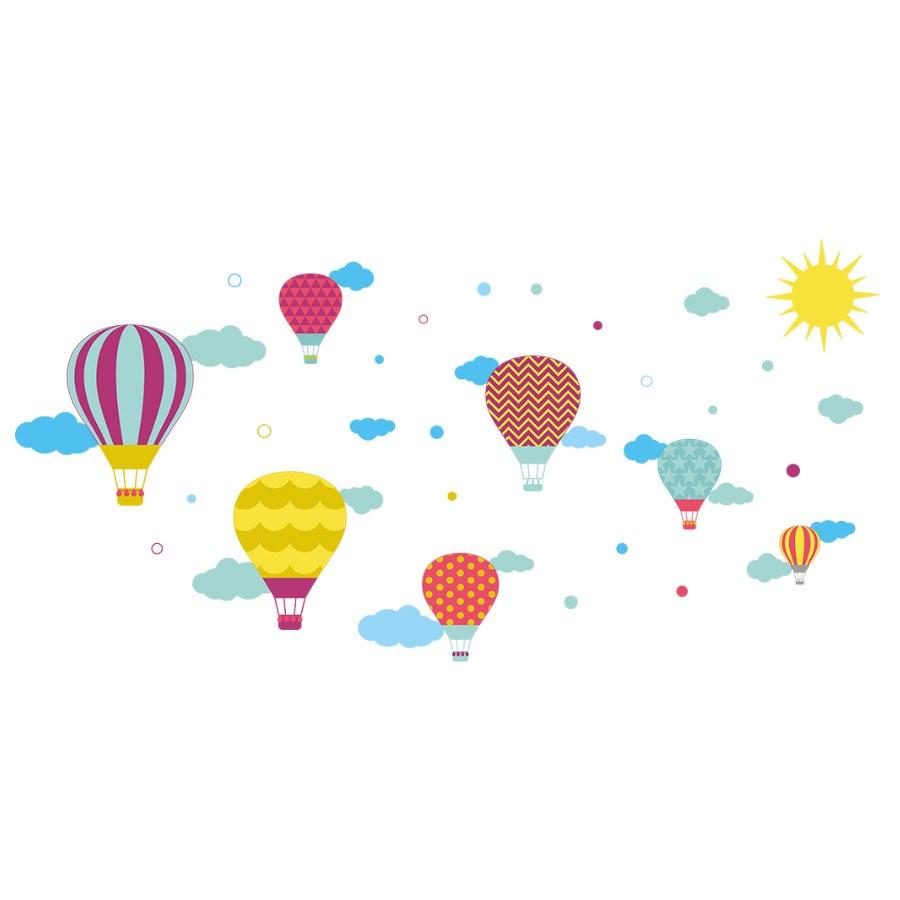 En Ucuz Dekor Loft özgür Uçan Balonlar çocuk Odası Duvar Sticker Cs