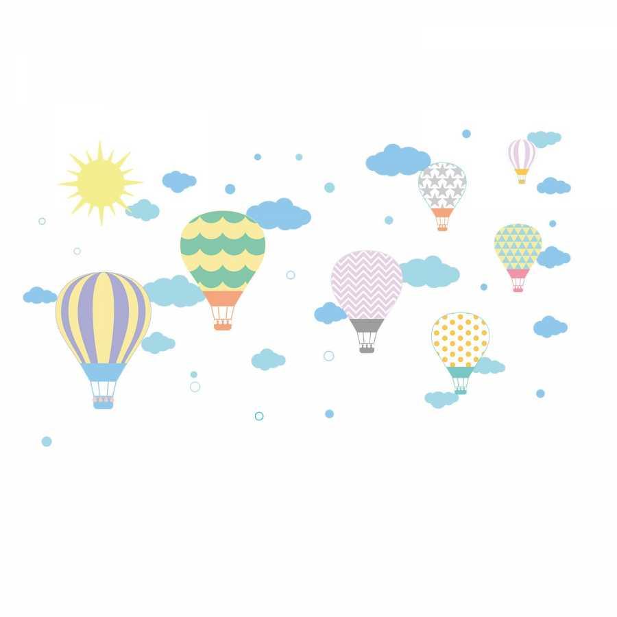 En Ucuz Dekor Loft Ozgur Ucan Balonlar Cocuk Odasi Duvar Sticker