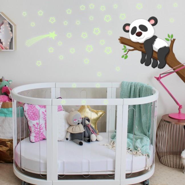 DekorLoft - Dekor Loft Panda İle İyi Uykular Gece Parlayan Sticker Fs-205