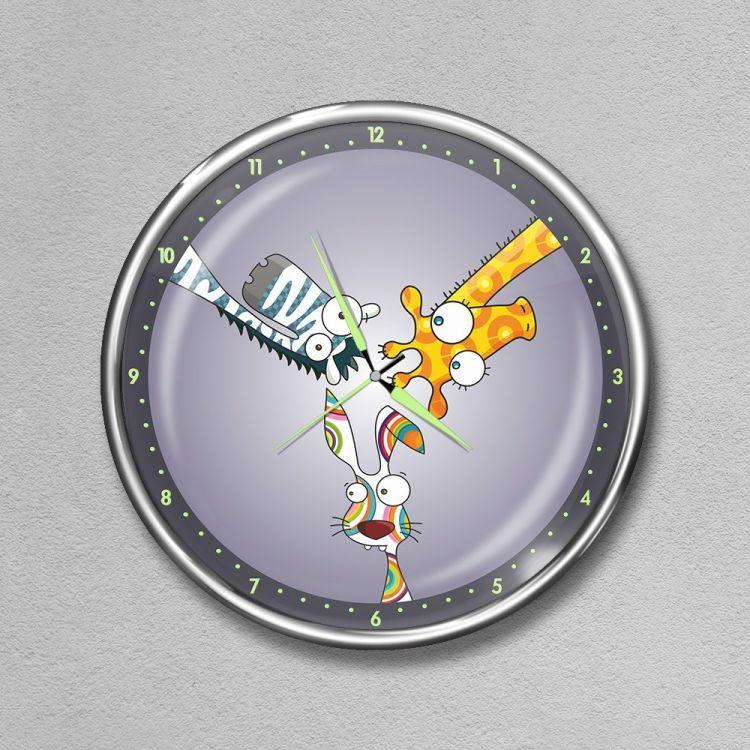 DekorLoft - Dekor Loft Premium Gece Parlayan Çocuk Odası Duvar Saati FS-1555