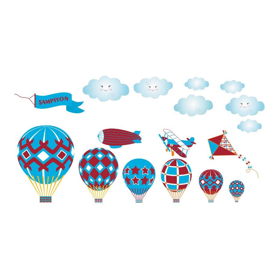 En Ucuz Dekor Loft şampiyon Uçan Balonlar çocuk Odası Duvar Sticker