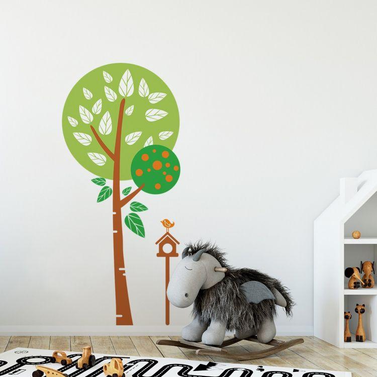 DekorLoft - DekorLoft Ağaç ve Kuş Çocuk Odası Sticker CS-278