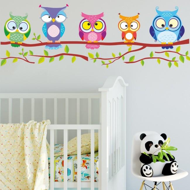 DekorLoft - DekorLoft Baykuşlar Çocuk Odası Duvar Sticker CS-222
