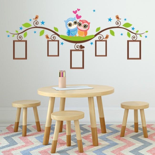 DekorLoft - DekorLoft Baykuşlar Fotoğraf Albümü Çocuk Odası Duvar Sticker CS-324