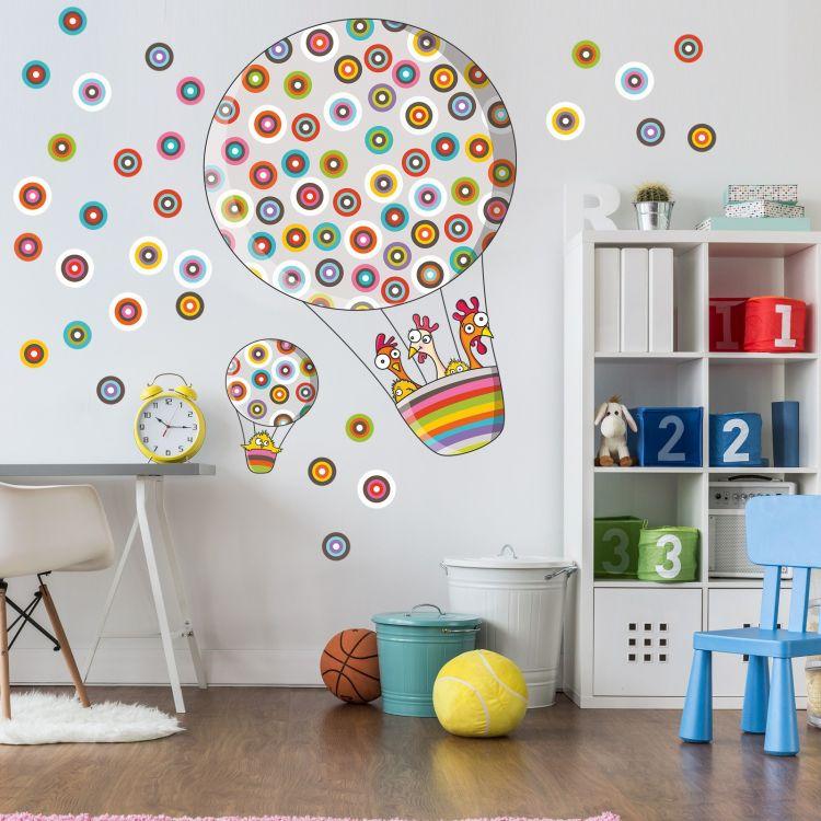 DekorLoft - DekorLoft Benekli Uçan Balon Çocuk Odası Duvar Sticker CS-306
