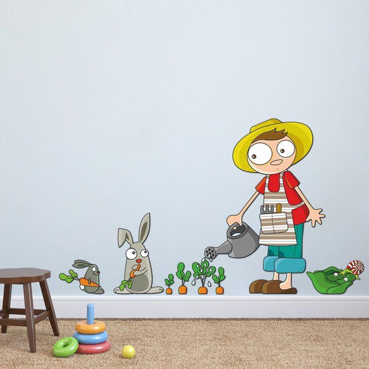 DekorLoft - DekorLoft Çiftçi Çocuk Çocuk Odası Duvar Sticker CS-346