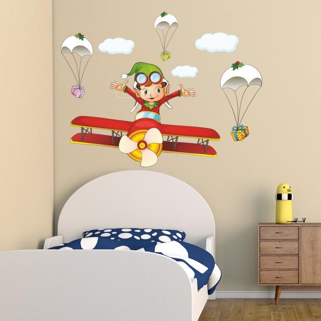 DekorLoft - DekorLoft Çılgın Pilot Çocuk Odası Duvar Sticker CS-256