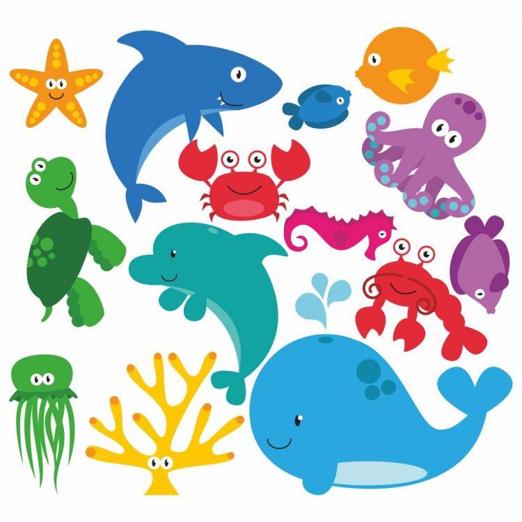 DekorLoft - DekorLoft Deniz Hayvanları Çocuk Odası Sticker CS-262