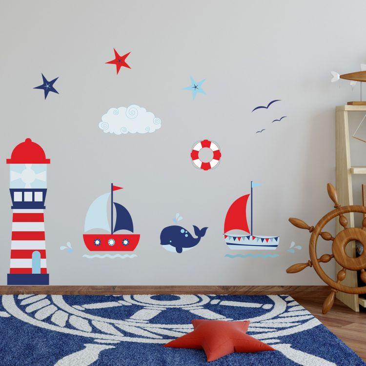 DekorLoft - DekorLoft Denizci Çocuk Odası Duvar Sticker CS-294