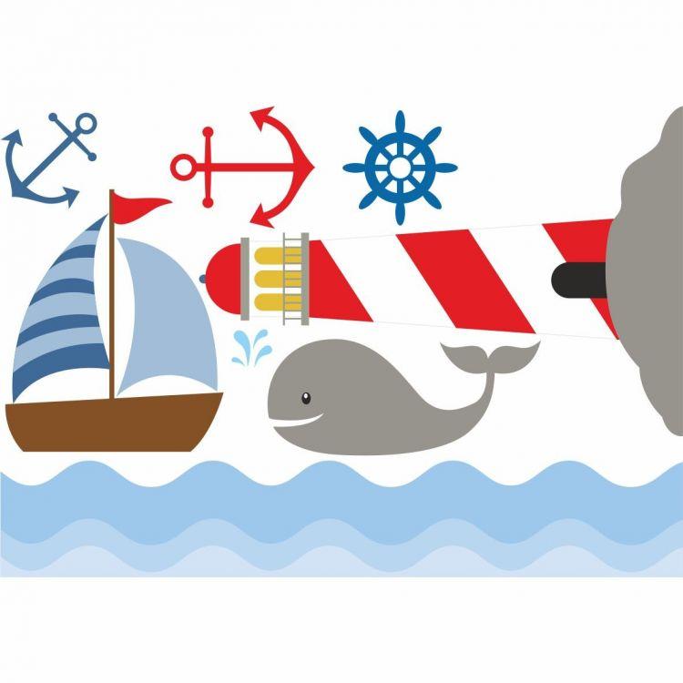 DekorLoft - DekorLoft Denizci Çocuk Odası Sticker CS-258