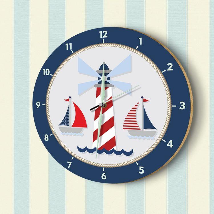 DekorLoft - DekorLoft Denizci Fosforlu Çocuk Odası Duvar Saati YFS-1432