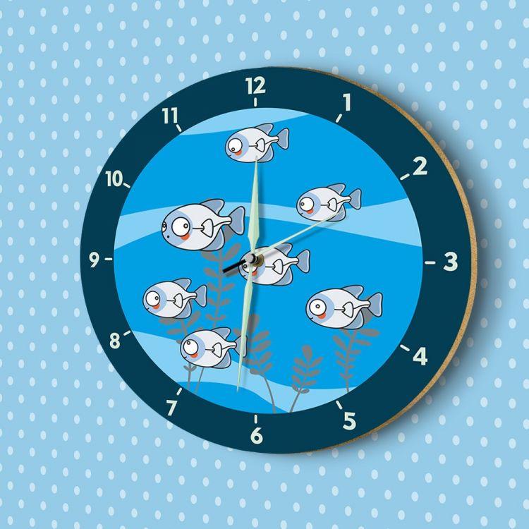 DekorLoft - DekorLoft Fosforlu Çocuk Odası Duvar Saati YFS-1411